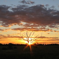 Sunset at Woolshed turnoff